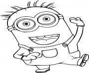 Phil Minion Dancing dessin à colorier