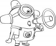 Carl Minion Fire Hydrant dessin à colorier