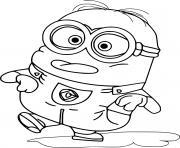 Minion in the Puddle dessin à colorier