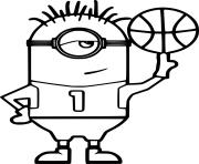 Minion Playing Basketball dessin à colorier