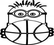 Minion Holds a Basketball dessin à colorier