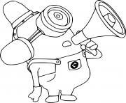 Fire Hydrant Carl Minion dessin à colorier