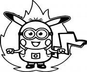 Pikachu Minion dessin à colorier