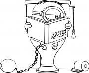 Minion on the Toilet dessin à colorier