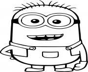 Happy Phil Minion dessin à colorier