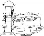 Phil Minion Holds a Rocket dessin à colorier