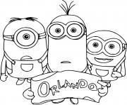 Minions in Orlando dessin à colorier