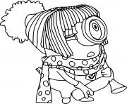 Stuart with Scarf and Wig dessin à colorier