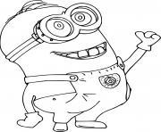 Minion is Happy dessin à colorier