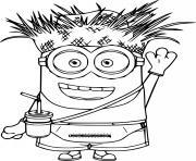 Scarecrow Minion dessin à colorier