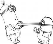 Kevin and Jorge Minions dessin à colorier