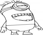 One Eye Minion Laughing dessin à colorier