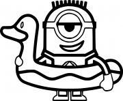 Minion in the Swim Ring dessin à colorier
