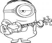 Stuart Playing Guitar dessin à colorier