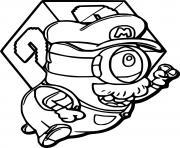 Super Mario Minion dessin à colorier