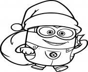 Santa Minion dessin à colorier