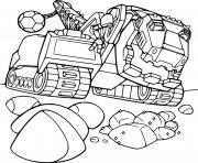 Ty Rux and Rocks Dinotrux dessin à colorier
