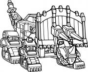 Dozer Dozeratops Dinotrux dessin à colorier