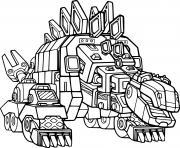 Garby Stegarbasaurus Dinotrux dessin à colorier