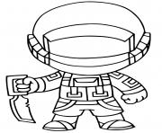 Coloriage fortnite default skin coloring page male dessin