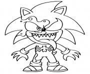 venom sonic the hedgehog dessin à colorier
