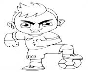 neymar jr cartoon brazil psg football dessin à colorier