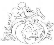 Coloriage mickey mouse la momie pour halloween dessin