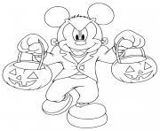 Coloriage baby mickey disney halloween disney dessin