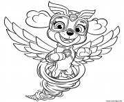 Stella Mighty Pups Skye in Tornado dessin à colorier