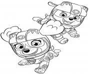 stella ruben moto pups sky rubble dessin à colorier