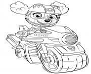 stella moto rapide sky moto pups dessin à colorier