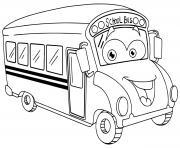 Coloriage bus de transport de ville dessin
