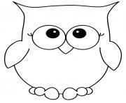 hibou chouette simple facile maternelle dessin à colorier