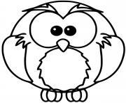 hibou oiseau rapace dessin à colorier