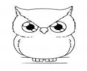chouette kawaii dessin à colorier