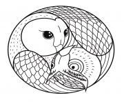 mandala hibou et chouette dessin à colorier