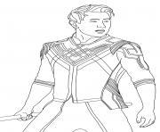 shang chi the legend of ten rings marvel dessin à colorier