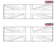 drapeau anglais angleterre avec exemple couleur dessin à colorier