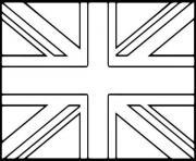 drapeau anglais angleterre dessin à colorier
