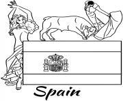 espagne drapeau corrida dessin à colorier