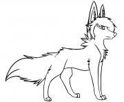 loup avec style par sillycandy de deviantArt dessin à colorier