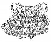 loup wolf mandala adulte dessin à colorier
