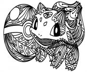 pokemon go bulbizarre dessin à colorier