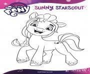 sunny starscout aime aventure mlp 5 dessin à colorier