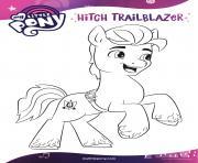 hitch trailblazer helping everypony mlp 5 dessin à colorier