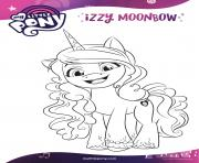 izzy moonbow loves crafting mlp 5 dessin à colorier