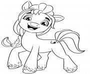 Coloriage barbie poney dessin