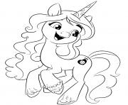 Coloriage my little poney 20 dessin
