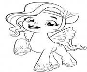 Coloriage poney avec taches noirs dessin