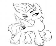 Coloriage zipp storm poney licorne mlp 5 dessin